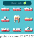 Dental care flat Vector illustration icons set 28525377