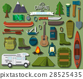 Flat vector illustration of camping equipment set 28525435