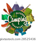 camp, vector, set 28525436