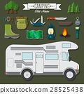 Flat vector illustration travel and vacation set 28525438