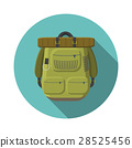 Flat vector illustration of tourist backpack icon 28525456