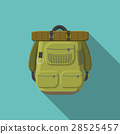 Flat vector illustration of tourist backpack icon 28525457