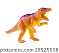 plastic dinosaur toy isolated on white background 28525538