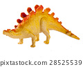plastic dinosaur toy isolated on white background 28525539