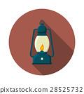 Flat vector illustration of lantern icon 28525732