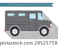 Flat vector illustration bank armored Truck 28525758