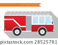 Flat vector illustration city fire truck 28525761