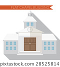 Flat vector illustration of chapel building icon 28525814
