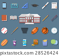 Back to School Flat vector illustration icons  28526424