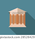 Flat vector illustration University building icon 28526429
