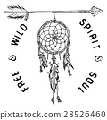 Dream catcher and arrow, Vector illustration 28526460