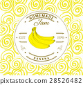 Jam label design template. banana fruit vector 28526482