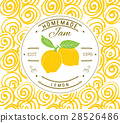 Jam label design template. lemon fruit vector 28526486