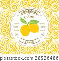 Jam label design template. lemon fruit vector 28526486