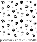 Hand drawn cats paw and traces seamless pattern 28526508
