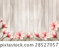 Nature spring background with beautiful magnolia 28527057