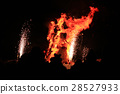 Burning of Maslenitsa Scarecrow in evening 28527933
