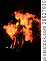 Burning of Maslenitsa Scarecrow in evening 28527935