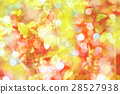 Spring background with red flowers of barberry 28527938