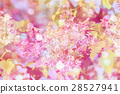 Spring background with pink flowers of lilac 28527941