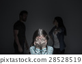 Poor little girl hiding her eyes 28528519
