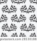 Checkered Flag racing flags icon seamless pattern 28530188