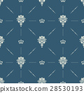 Royal wallpaper seamless pattern with crown 28530193
