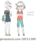 Vector cute fashionable girls 28531389