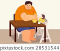 爸爸 女儿 进餐 28531544
