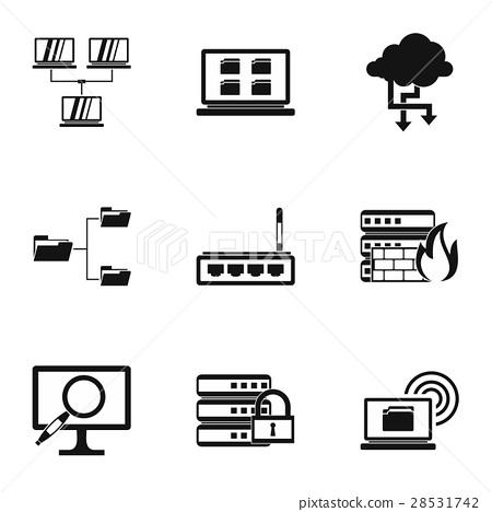 Computer setup icons set, simple style 28531742