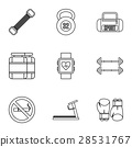 workout, icon, vector 28531767