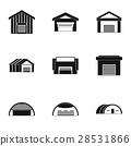 types, garages, icon 28531866