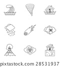 Natural emergency icons set, outline style 28531937
