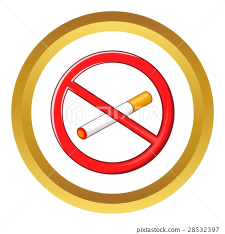 No smoking sign vector icon 28532397