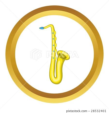 Saxophone vector icon 28532401