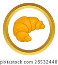 fresh, croissant, icon 28532448