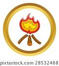 campfire, icon, vector 28532468