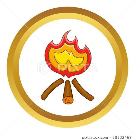 Campfire vector icon 28532468