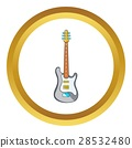 Electric guitar vector icon 28532480