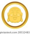 Budha head vector icon 28532483