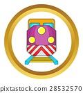 Train locomotive vector icon 28532570