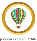 Colorful air balloon vector icon 28532602