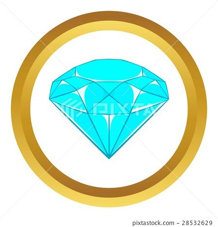 Diamond vector icon 28532629