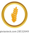 wheat, germ, icon 28532649
