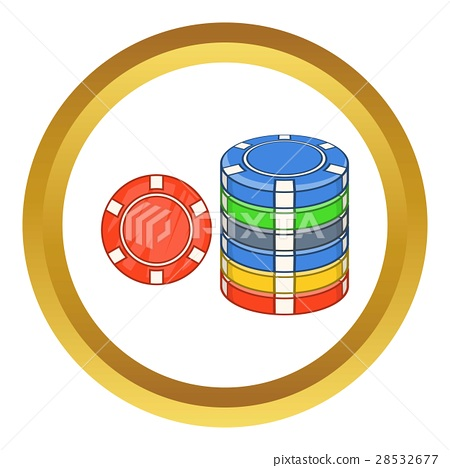 Casino chips vector icon 28532677