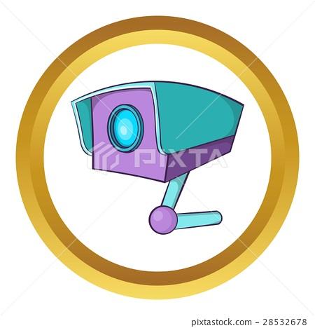 CCTV camera vector icon 28532678