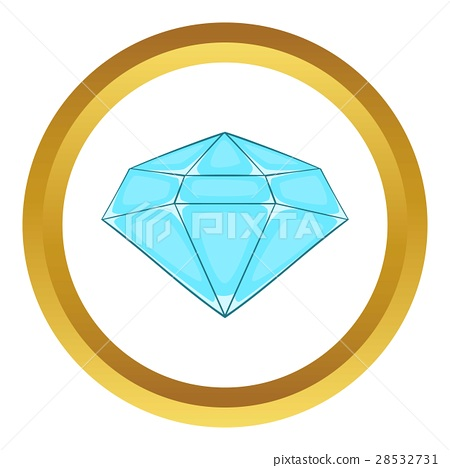 Polished diamond vector icon 28532731