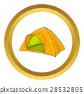 tent, icon, vector 28532805