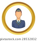 Woman train conductor vector icon 28532832