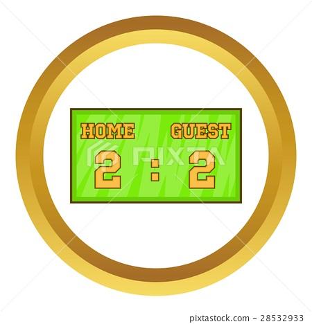 Baseball score board vector icon 28532933